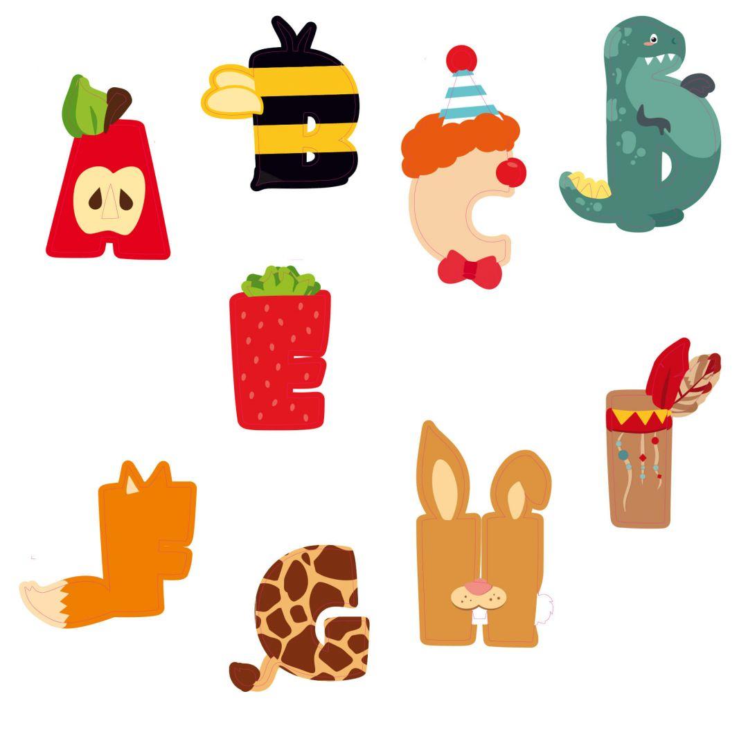 sticker mural pr nom alphabet pour enfants. Black Bedroom Furniture Sets. Home Design Ideas