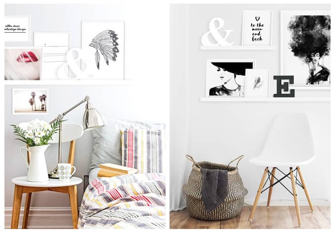 bilderleiste wei 55cm 115 cm wall. Black Bedroom Furniture Sets. Home Design Ideas