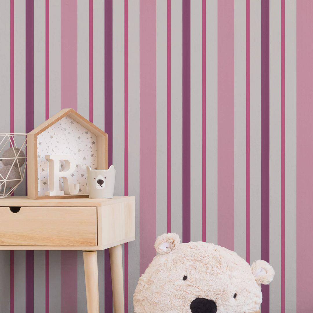 a s cr ation papiertapete boys girls 6 tapete gestreift. Black Bedroom Furniture Sets. Home Design Ideas