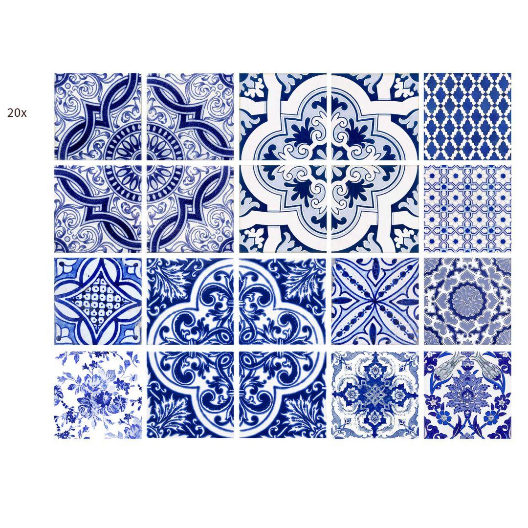 Fliesenaufkleber portugiesische kacheln wall for Azulejos on line