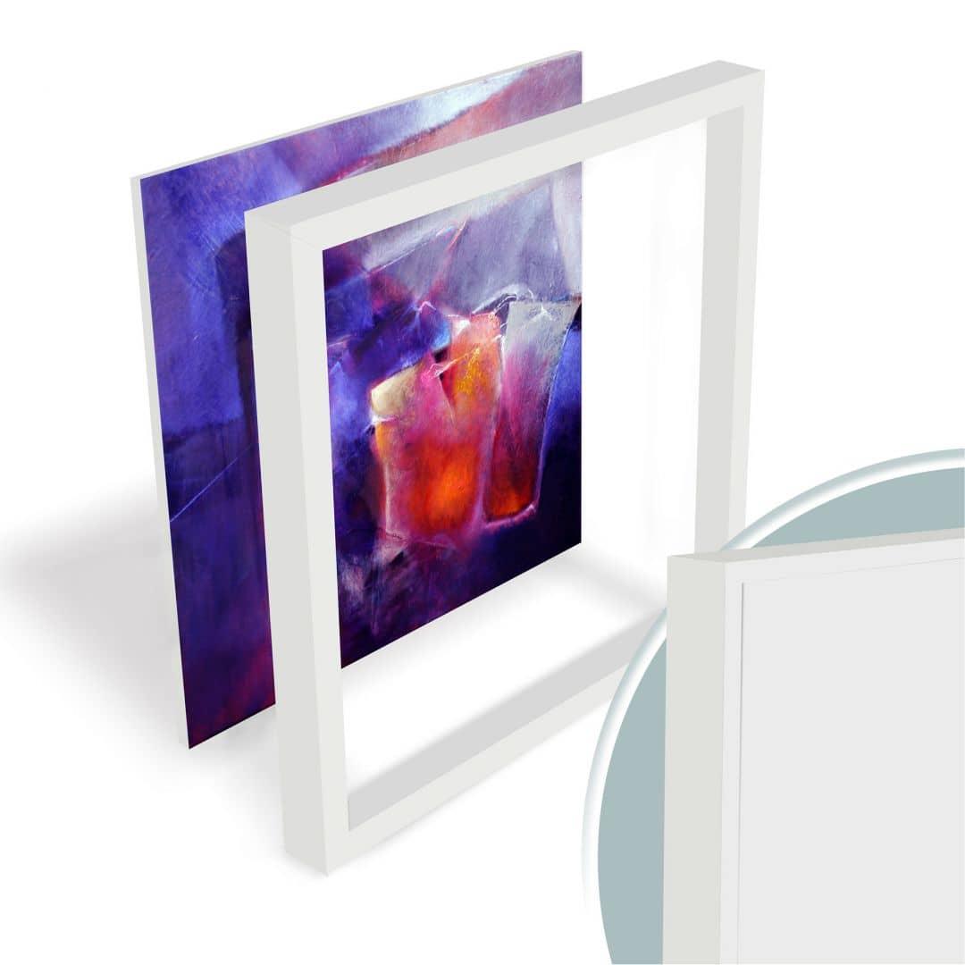 hartschaum wandbild schmucker blau und orange wall. Black Bedroom Furniture Sets. Home Design Ideas