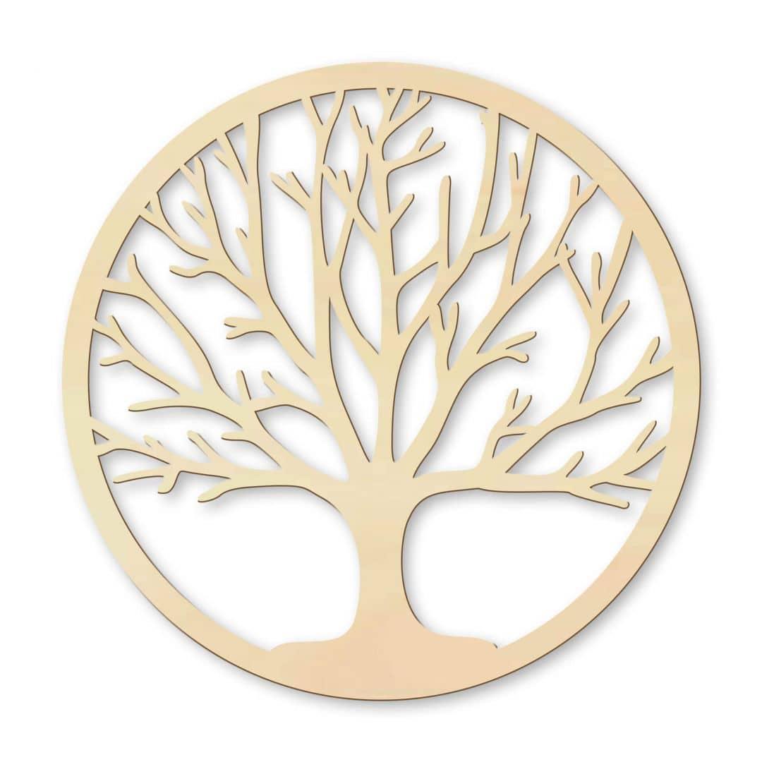 Holzdeko Pappel Furnier - Baum des Lebens   wall-art.de