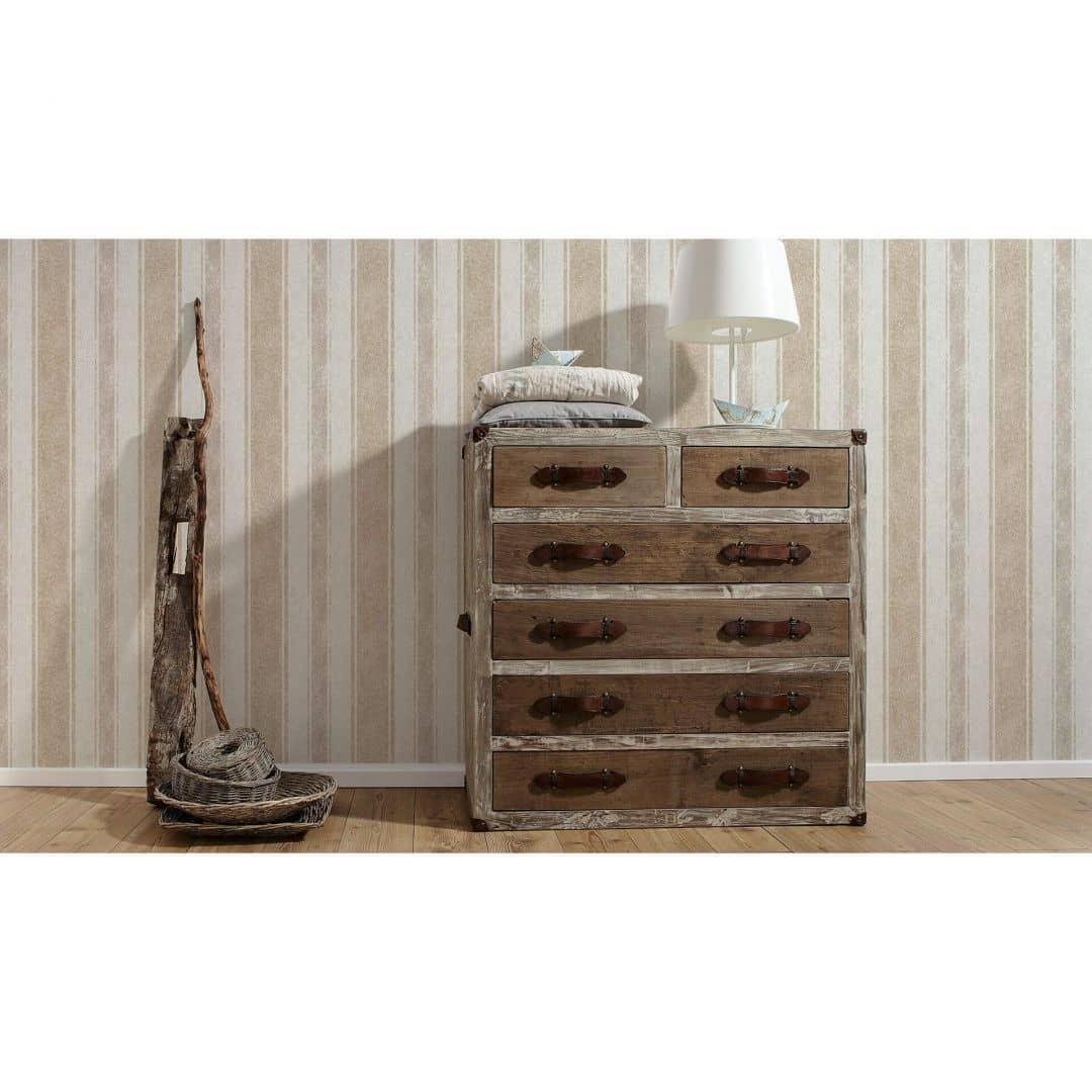 livingwalls vliestapete jette 4 beige braun metallic 339254 wall. Black Bedroom Furniture Sets. Home Design Ideas