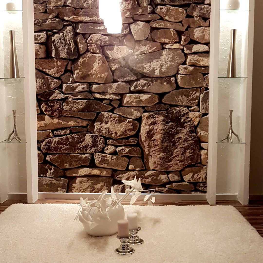 Paper Stone Walls : Photo wallpaper paper stone wall