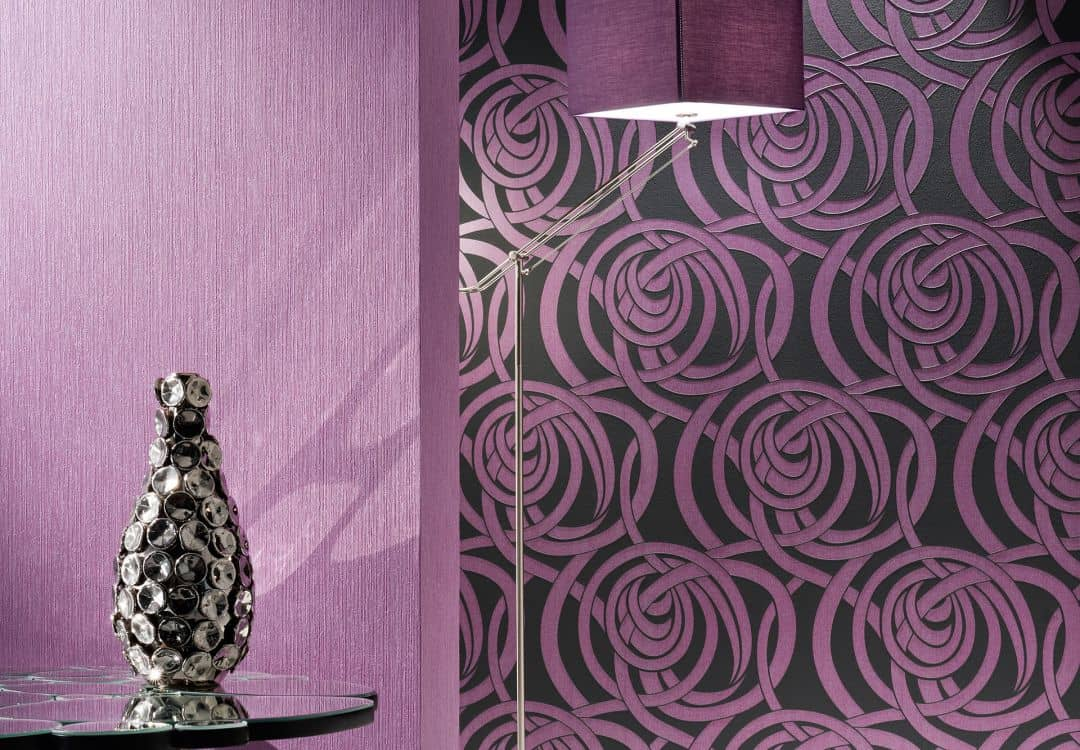 Livingwalls Wallpaper Flock 4 Transport Purple Pastel
