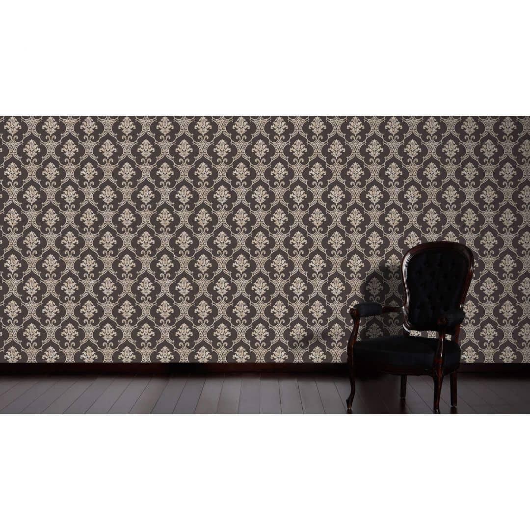 livingwalls neobarocke tapete moments creme schwarz 328306 wall. Black Bedroom Furniture Sets. Home Design Ideas