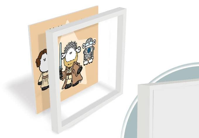 Hartschaum wandbild m hhgastark von sheepworld wall for Milchglasfolie obi