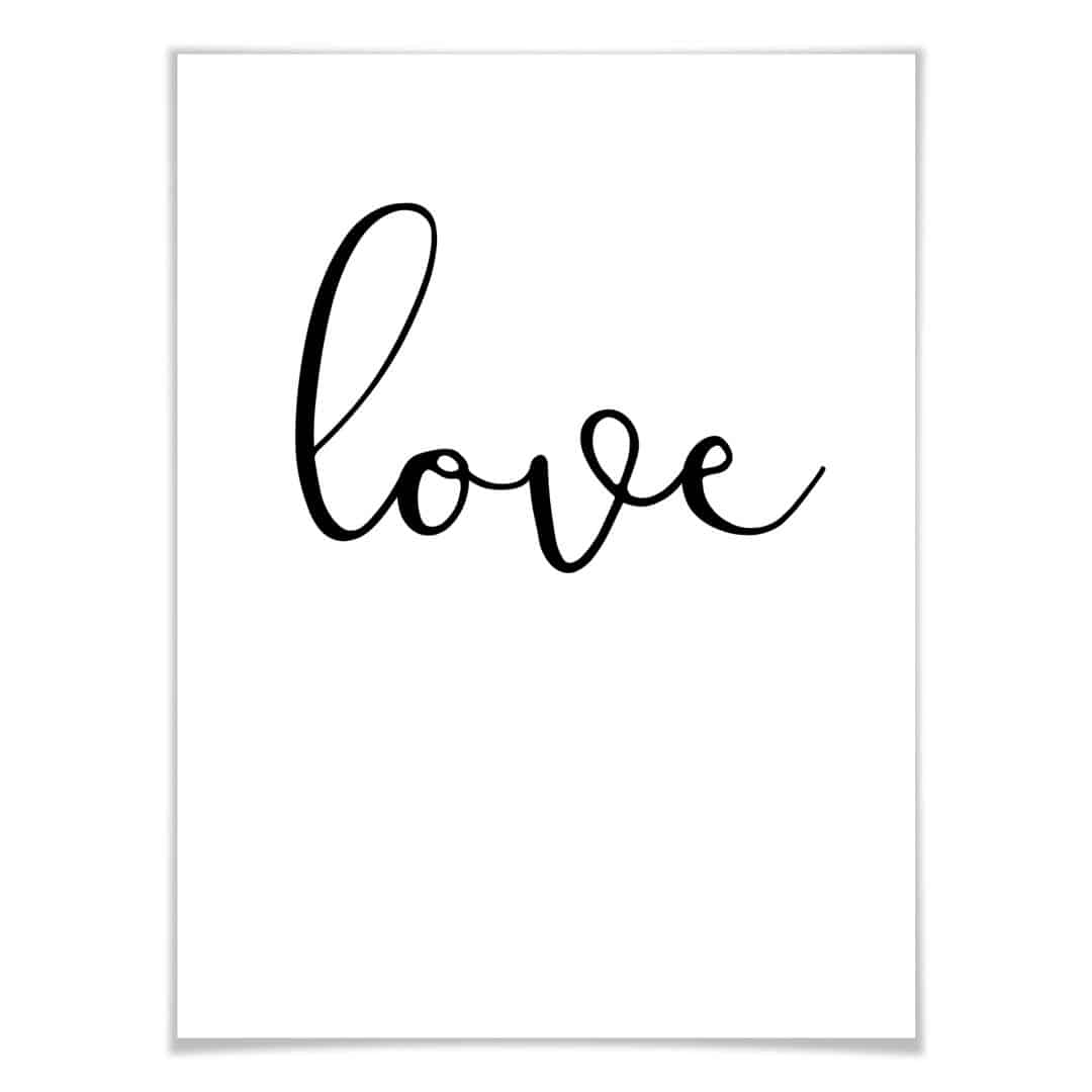 premium poster handwritten love wall. Black Bedroom Furniture Sets. Home Design Ideas
