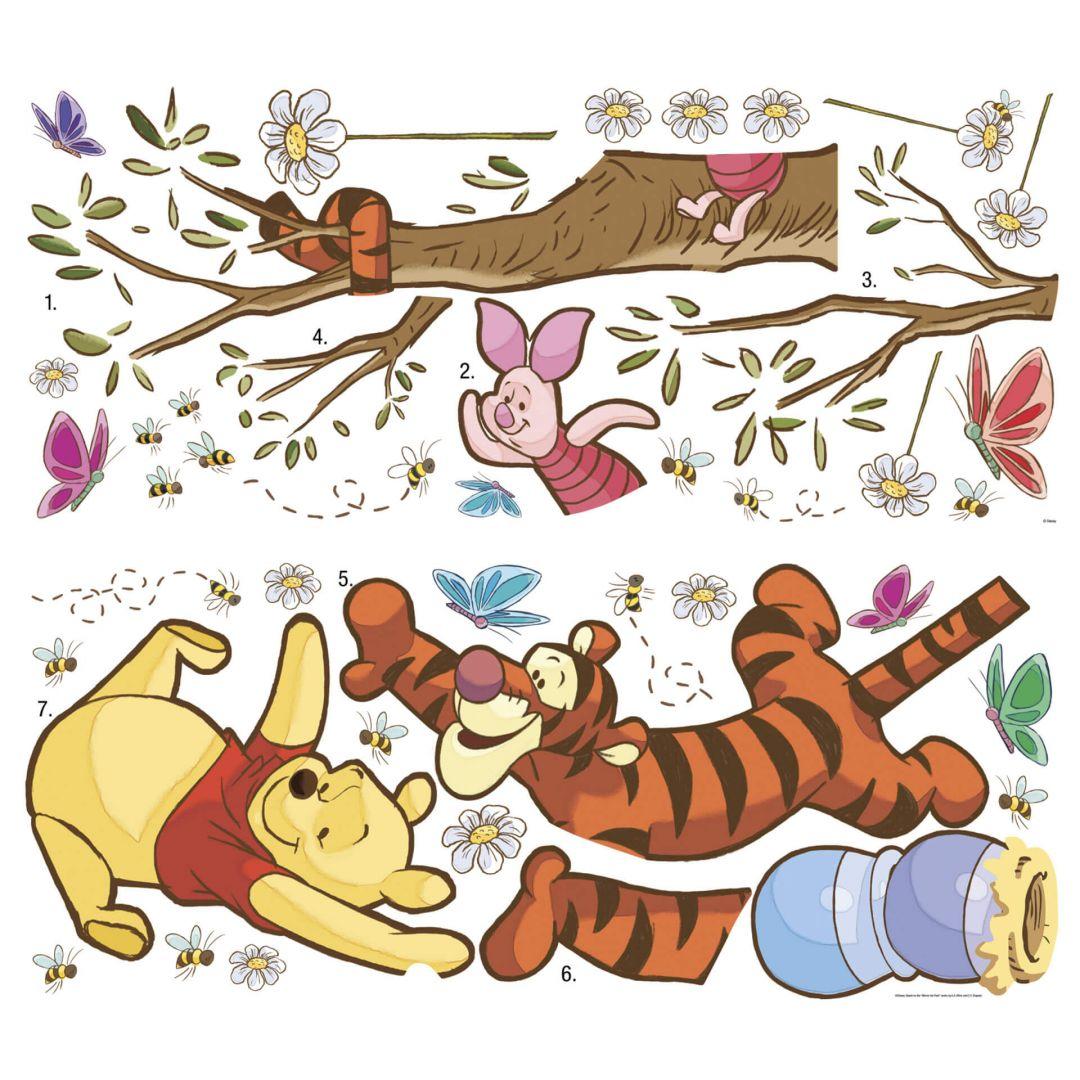 Winnie The Pooh Wall Sticker Winnie The Pooh Fun Climbing Wall Sticker