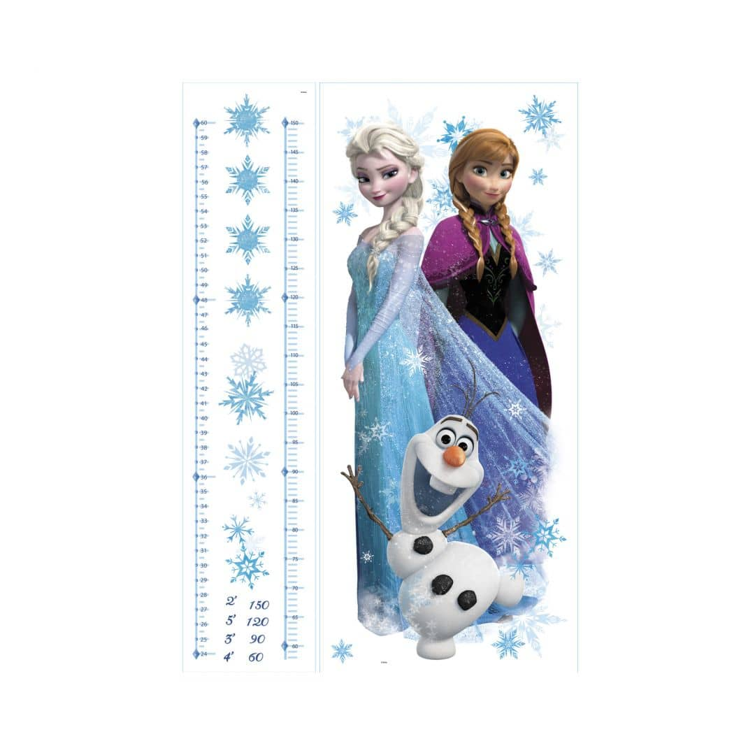 wandsticker disney die eisk nigin messlatte elsa anna und olaf wall. Black Bedroom Furniture Sets. Home Design Ideas