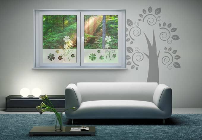 effet verre d 233 poli fleurs wall fr
