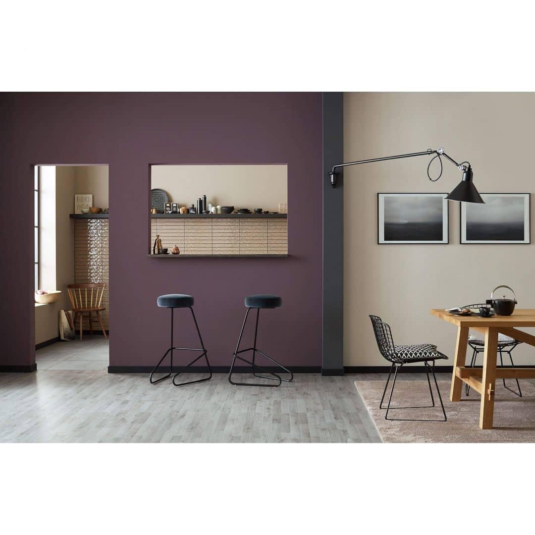 sch ner wohnen vliestapete lila 285447 wall. Black Bedroom Furniture Sets. Home Design Ideas