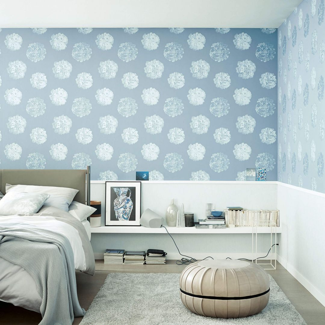 sch ner wohnen vliestapete blau 324541 wall. Black Bedroom Furniture Sets. Home Design Ideas