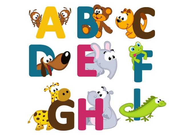 sticker mural alphabet pour enfants anglais. Black Bedroom Furniture Sets. Home Design Ideas