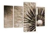 Dandelion - Poetry (4-parts) Canvas print