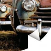 Fototapete - Old Rusted Cars - Rund