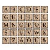 Lettres décoratives Scrabble - Vintage