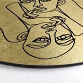Dibond Schilderij met goud effect Hariri - Julie