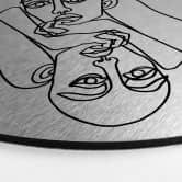 Alu-Dibond mit Silbereffekt Hariri - Ava - Rund