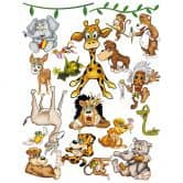 Sticker mural - Méga Pack Crazy Jungle