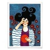 Poster-Set mit Bilderrahmen Hülya - Augenblicke (2er Set)