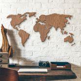 Wereldkaart Hout - mahonie