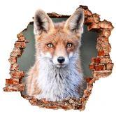 3D Wandtattoo van Duijn - Porträt eines Fuchses