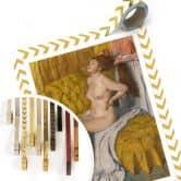 Poster Degas - Eine Frau bekommt ihr Haar gebunden