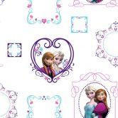 Mustertapete Papiertapete Die Eiskönigin - Prinzessinen im Rahmen