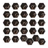 Hexagon Buchstaben - Alu-Dibond Kupfereffekt - Schwarz