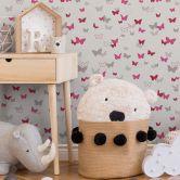 Esprit Kids Vliestapete Sweet Butterfly grau,rosa,weiß