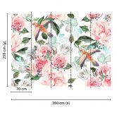 Livingwalls Fototapete Designwalls Paradise Blumen