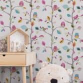 A.S. Création Paper Wallpaper Kids Party Colourful, Yellow, Green
