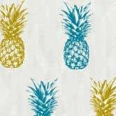 A.S. Création Vliestapete il Decoro Tapete mit tropischen Ananas blau, gelb, weiß