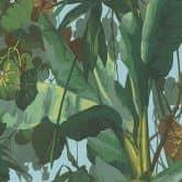 Papier peint A.S. Création Dekora Natur 6 jaune genêt, vert feuille, vert bleu, vert réséda, brun noisette, bleu clair, vert blanc