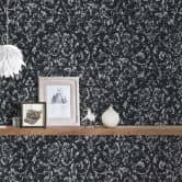 Architects Paper Textiltapete Metallic Silk schwarz, metallic