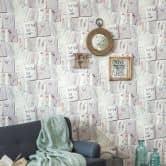 A.S. Création Vliestapete Authentic Walls 2 Tapete im Ethno Look beige, blau, rosa