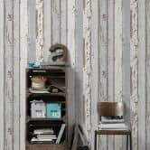 A.S. Création non-woven wallpaper Authentic Walls beige, brown, grey