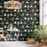 A.S. Création Vliestapete Authentic Walls 2 Tapete mit fotorealistischem Regal schwarz, grün, weiß