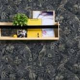 A.S. Création Vliestapete Greenery Dschungeltapete mit Vögeln creme, grau, schwarz