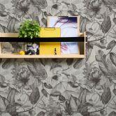 A.S. Création Vliestapete Greenery Tapete mit Blätter Motiv grau, weiß, schwarz