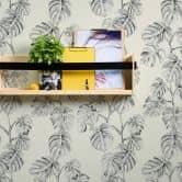 A.S. Création Vliestapete Greenery Tapete mit Palmenprint in Dschungel Optik schwarz, weiß, grau