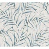 A.S. Création Vliestapete Greenery Palmentapete in Dschungel Optik blau, grau