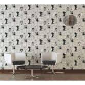 Livingwalls Vliestapete Metropolitan Stories Lola Paris metallic, schwarz, weiß