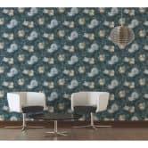 Livingwalls Vliestapete Metropolitan Stories Anke & Daan Amsterdam Blumentapete floral blau, gelb, grün