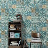 Livingwalls Vliestapete Metropolitan Stories Anke & Daan Amsterdam blau, braun, grün