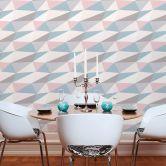 A.S. Création Vliestapete Scandinavian 2 Tapete in 3D Optik geometrisch blau, rosa, grau