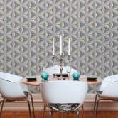 A.S. Création pattern wallpaper wallpaper Move your Wall Blue, Grey, Pink