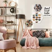 Hexagon - Alu-Dibond - Fredriksson - Pink Shades
