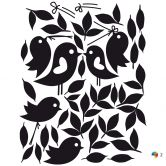 Loving Sparrows (2 colours) incl. 5 Photo Frames Wall sticker